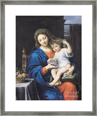 The Virgin Of The Grapes Framed Print