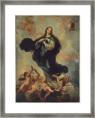 The Virgin Of The Immaculate Conception Framed Print by MotionAge Designs