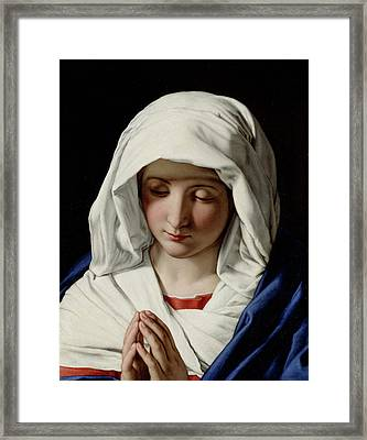 The Virgin Praying Framed Print