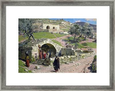 The Virgin Spring In Nazareth Framed Print by Vasilij Dmitrievich Polenov