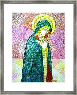 The Virgin Framed Print by Victor Madero