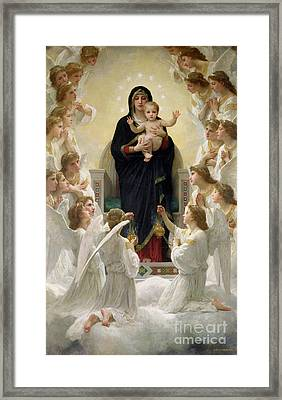 The Virgin With Angels Framed Print