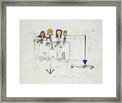 The Virtue Wagon  Framed Print by Paul Klee