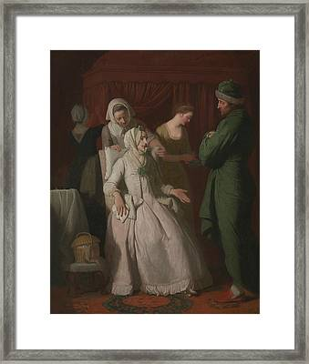 The Virtuous Comforted By Sympathy Framed Print by Edward Penny