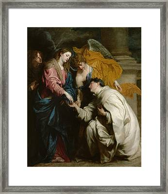 The Vision Of The Blessed Hermann Joseph Framed Print by Anthony van Dyck