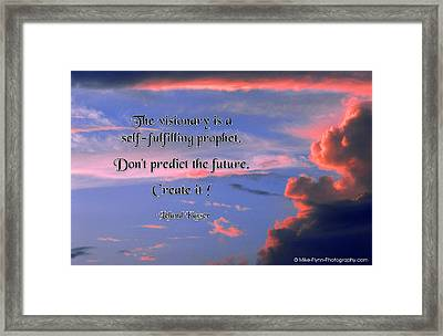 The Visionary Framed Print
