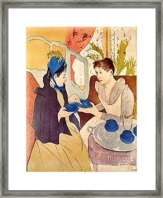 The Visit 1890 Framed Print by Padre Art