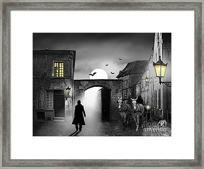 The Visit At Midnight Framed Print