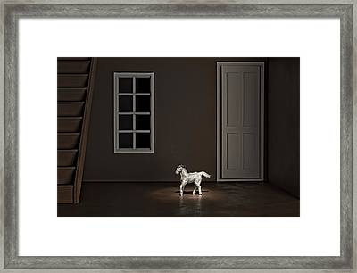 The Visit Framed Print by Jeff  Gettis