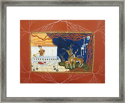 The Visitation Framed Print by Cathy Germay
