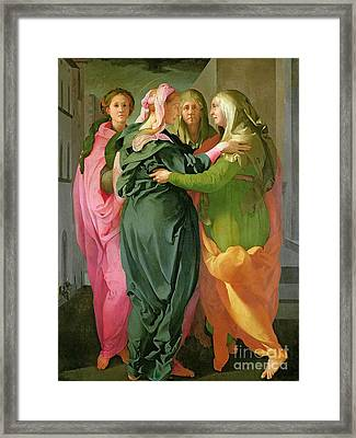 The Visitation Framed Print by Jacopo Pontormo