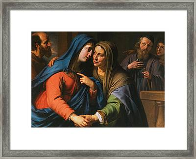 The Visitation Framed Print by Philippe de Champaigne