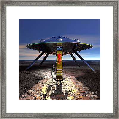 The Visitor 5 - Renfo Disembarks Framed Print by Walter Neal