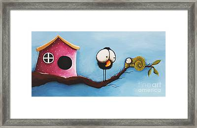 The Visitor Framed Print