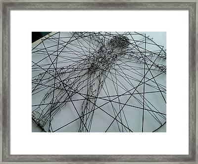 The Vitruvian Man Framed Print