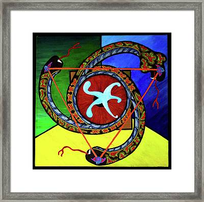 The Vitruvian Serpent Framed Print