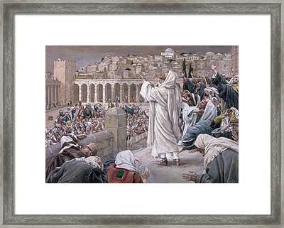 The Voice From Heaven Framed Print by Tissot