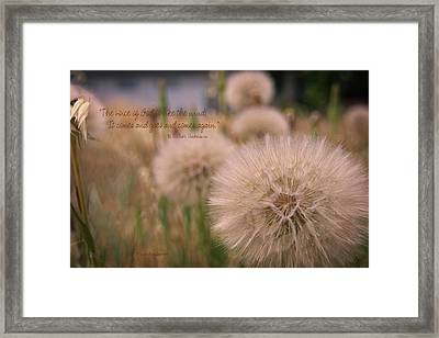 The Voice Of God Is Like The Wind Framed Print