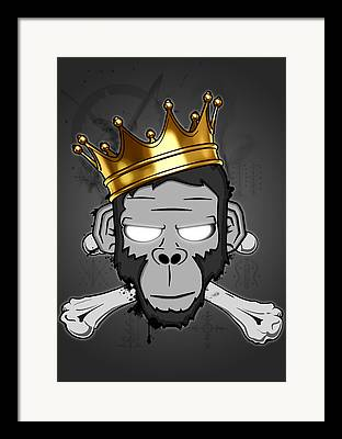 Zombie Digital Art Framed Prints