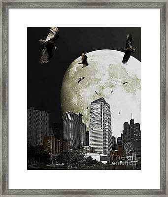 The Vultures Have Emerged From My Dreams Framed Print by Wingsdomain Art and Photography