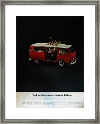 The Vw Van Framed Print