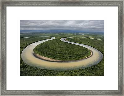 The Vyvenka River Loops Framed Print by Randy Olson