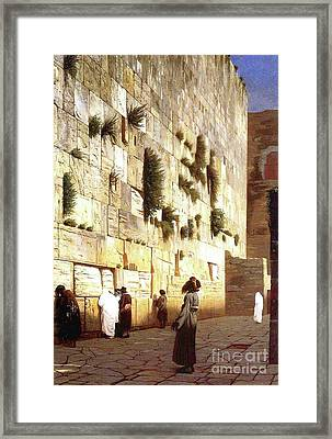 The Wailing Wall, Jerusalem, 1869 Framed Print