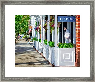 The Waiter Framed Print