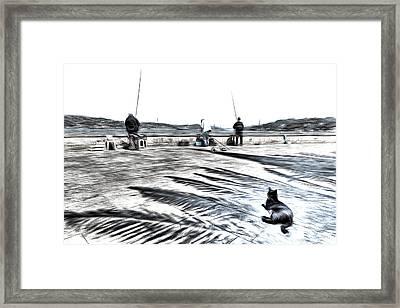 The Waiting Game Art Framed Print