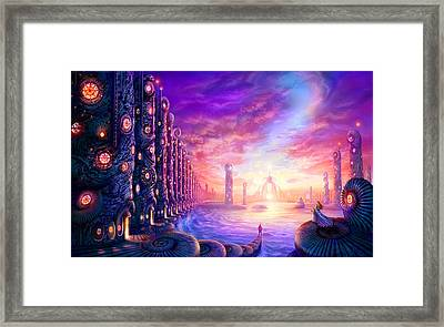 The Waiting Framed Print by Philip Straub