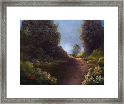 The Walk Home Framed Print by Marlene Book