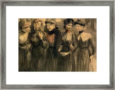 The Walk Framed Print by Theophile Alexandre Steinlen