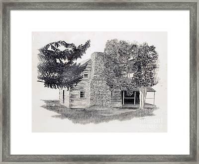 The Walker Sisters' Cabin Framed Print