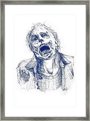 The Walking Blues Framed Print