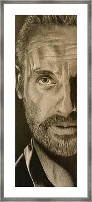 The Walking Dead Fan Art Framed Print