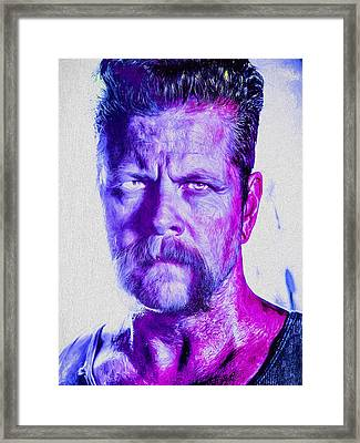 The Walking Dead Michael Cudlitz Sgt. Abraham Ford Painted Framed Print