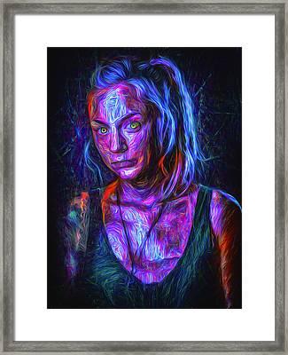 The Walking Dead Painted Emily Kinney Beth Greene Framed Print