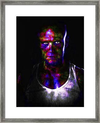 The Walking Dead Painted Michael Rooker Merle Dixon Framed Print
