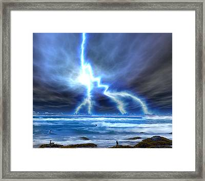 The Walking Dude Framed Print by David Jackson