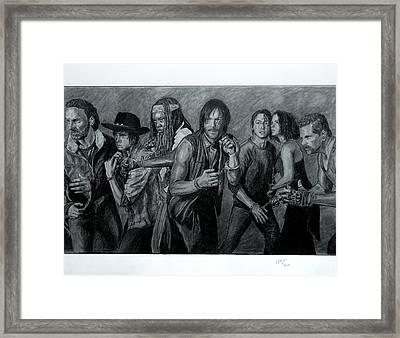 The Walking Dead - Group Framed Print