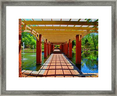 The Walkway Framed Print by Judy  Waller