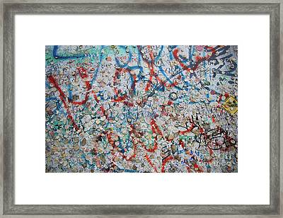The Wall #7 Framed Print
