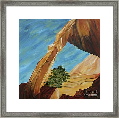 The Wall Arch Framed Print by Christiane Schulze Art And Photography