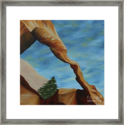 The Wall Arch II Framed Print by Christiane Schulze Art And Photography