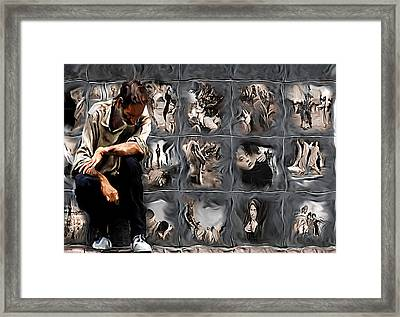 The Wall Framed Print by Naikos N