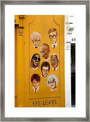 The Wall Of Fame Framed Print by Jez C Self