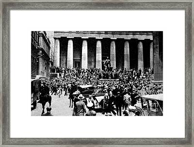 The Wall Street Crash 1929 Framed Print by American School