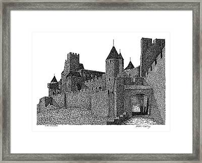 The Walled City Of Carcassonne France Framed Print by Brian Keating