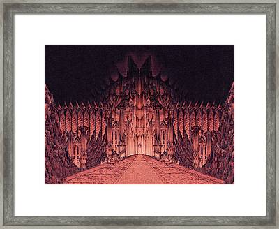 The Walls Of Barad Dur Framed Print