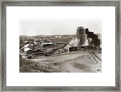 The Wanamie Colliery Lehigh And Wilkes Barre Coal Co Wanamie Pa Early 1900s Framed Print